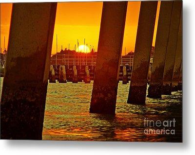 2013 First Sunset Under North Bridge 3 Metal Print by Lynda Dawson-Youngclaus