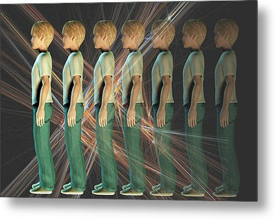 A Boy Fading From Sight Metal Print by Carol & Mike Werner