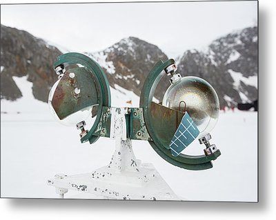 A Campbell Stokes Sunshine Recorder Metal Print by Ashley Cooper