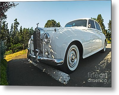 A Classic Rolls Royce Metal Print by Ron Sanford