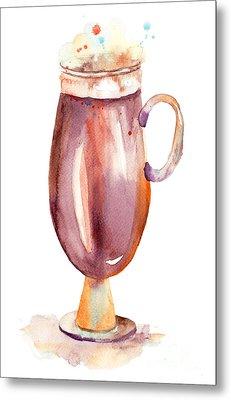 A Cup Of Coffee  Metal Print by Regina Jershova