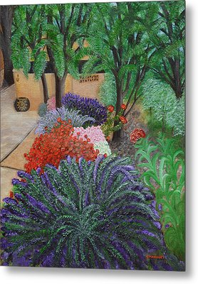 A Garden To Remember Metal Print by Donna  Manaraze