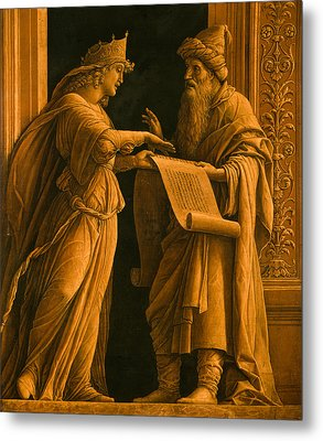 A Sibyl And A Prophet Metal Print by Andrea Mantegna