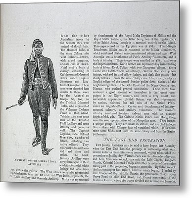 A Soldier Metal Print by British Library