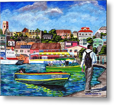 A Stroll On The Carenage Metal Print