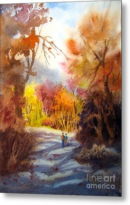 A Walk In The Fall Metal Print by Mohamed Hirji