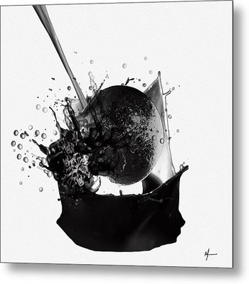 A World Within My Paint Pot ...---.... Metal Print by Sir Josef - Social Critic -  Maha Art