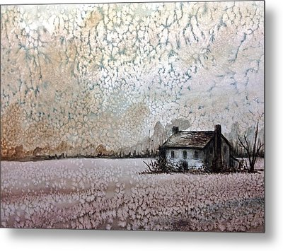 Abandoned House Metal Print by MB Matthews