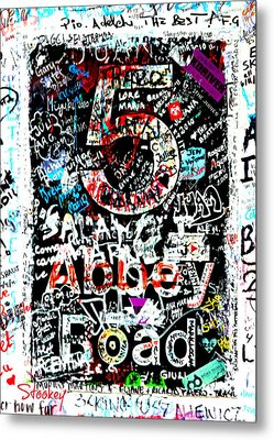 Abbey Road Graffiti Metal Print by Stephen Stookey