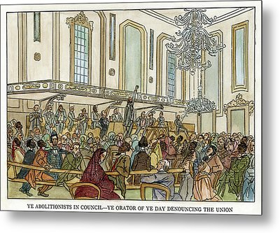 Abolition Cartoon, 1859 Metal Print