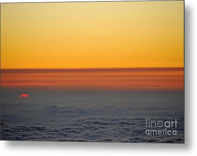 Above Cloudscape At Sunset Metal Print by Sami Sarkis