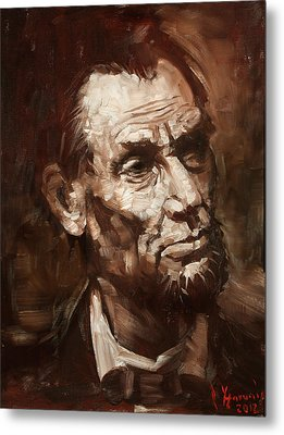 Abraham Lincoln Metal Print by Ylli Haruni