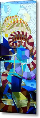 Abstract Art Stained Glass Metal Print by Mountain Dreams