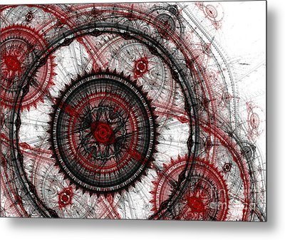 Abstract Mechanical Fractal Metal Print by Martin Capek