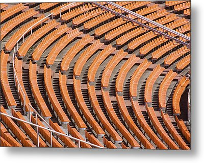 Abstract Pattern - Rows Of The Stadium's Seats Metal Print