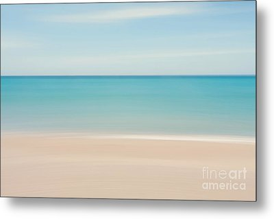 Abstract Tropical Beach  Metal Print by Katherine Gendreau