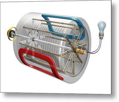 Ac Generator Metal Print