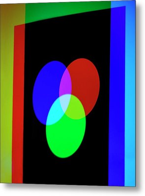 Additive Primary Colours Metal Print by Science Photo Library