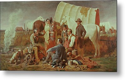 Advice On The Prairie  Metal Print by William Tylee Ranney