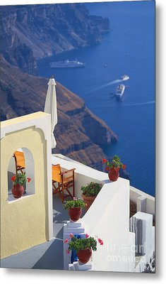 Aegean View Metal Print by Aiolos Greek Collections