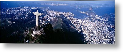 Aerial, Rio De Janeiro, Brazil Metal Print by Panoramic Images