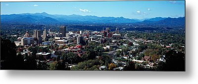 Aerial View Of A City, Asheville Metal Print
