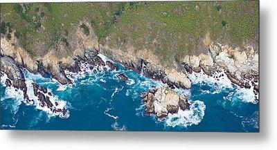 Aerial View Of A Coast, Big Sur Metal Print