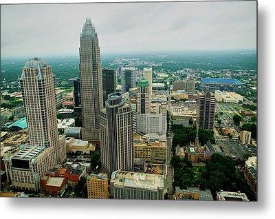 Aerial View Of Charlotte, Nc Metal Print