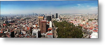 Aerial View Of Cityscape, Mexico City Metal Print by Panoramic Images