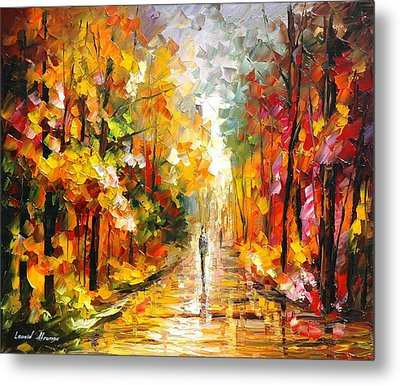 After The Rain Metal Print by Leonid Afremov