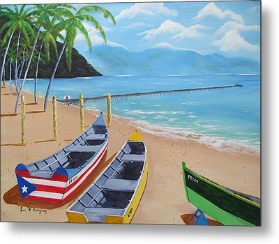 Aguadilla Crashboat Beach Metal Print by Luis F Rodriguez
