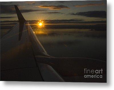 Airplane Metal Print by Ron Sanford