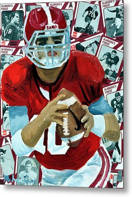 Alabama Quarter Back #10 Metal Print by Michael Lee