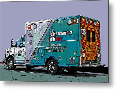 Alameda County Medical Support Vehicle Metal Print