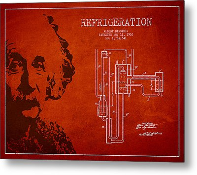 Albert Einstein Patent Drawing From 1930 Metal Print by Aged Pixel