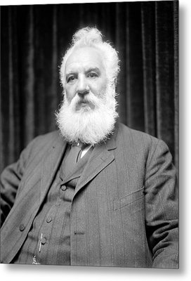 Alexander G. Bell, Scottish-us Inventor Metal Print by Science Photo Library