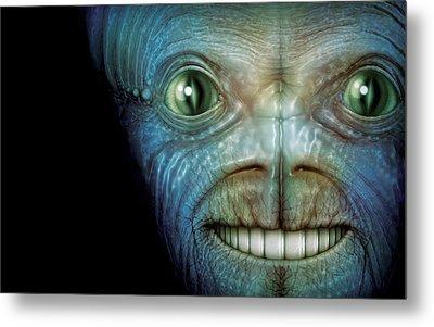 Alien Face Metal Print by James Larkin