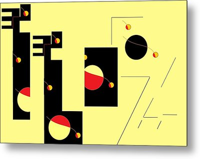 Metal Print featuring the digital art Alluring In Yellow by Cletis Stump