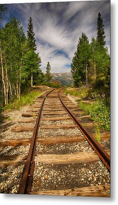 Along Boreas Pass Metal Print by Christopher L Nelson