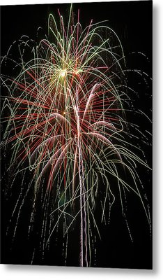 Amazing Fireworks Metal Print by Garry Gay