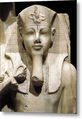 Amenhotep IIi And God Sobek. S.xiv Bc Metal Print