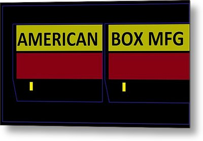 Metal Print featuring the digital art American Box Mfg by Cletis Stump