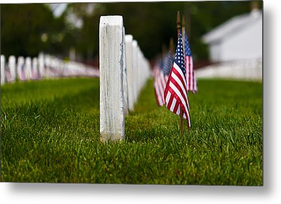 Metal Print featuring the photograph American Flag by Jerry Gammon