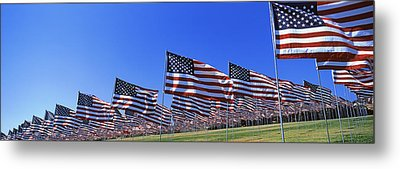 American Flags In Memory Of 911 Metal Print by Panoramic Images