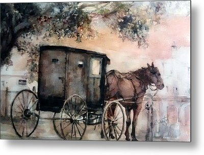 Amish Sunday Metal Print by Rose Sinatra