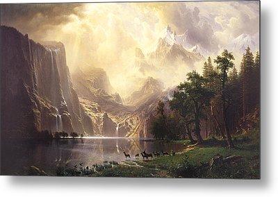 Among The Sierra Nevada Mountains California Metal Print