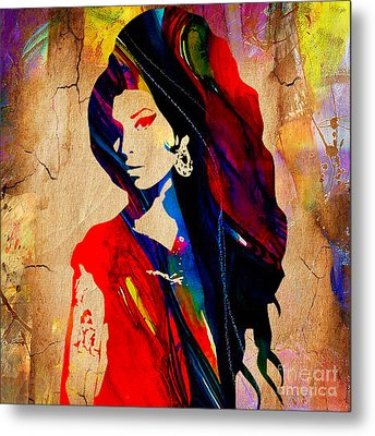 Amy Winehouse Collection Metal Print