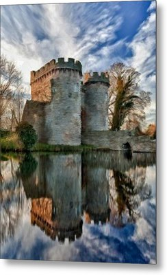 Ancient Whittington Castle In Shropshire England Metal Print
