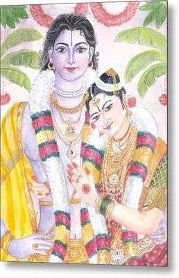Andal Krishna Metal Print by Parimala Devi Namasivayam