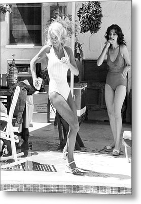 Angie Dickinson In Police Woman  Metal Print by Silver Screen